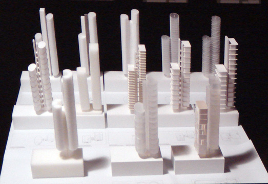 Study models for tower over 980 Madison Avenue
