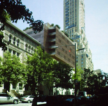 Rendered view of 76th Street elevation