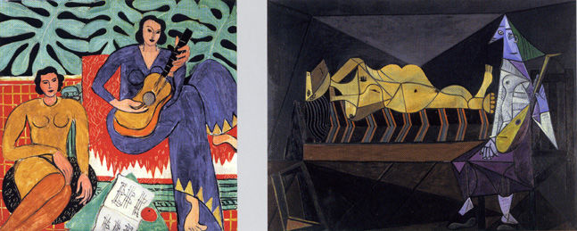 """Music"" by Matisse and ""Serenade"" by Picasso"