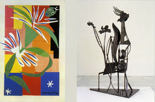 """Creole Dancer"" by Matisse and ""Woman in the Garden"" by Picasso"