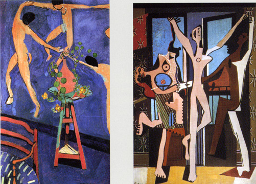 """Nasturtiums with Dance II"" by Matisse and ""The Three Dancers"" by Picasso"