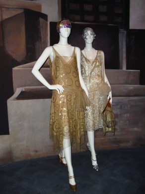 """Evening dress by Lanvin, left"