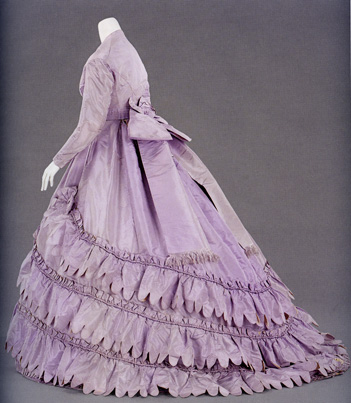 Evening dress, 1862-5, Charles Frederick Worth