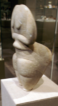 Cycladic marble figure of a woman
