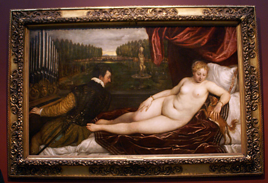"""Venus with an Organist and a Dog"" by Titian"