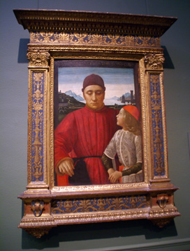 """Francesco Sassetti and His Son Teodoro"" by Domenico Ghirlandaio"