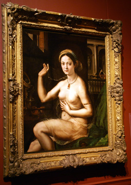 """Woman with a Mirror"" by Romano"