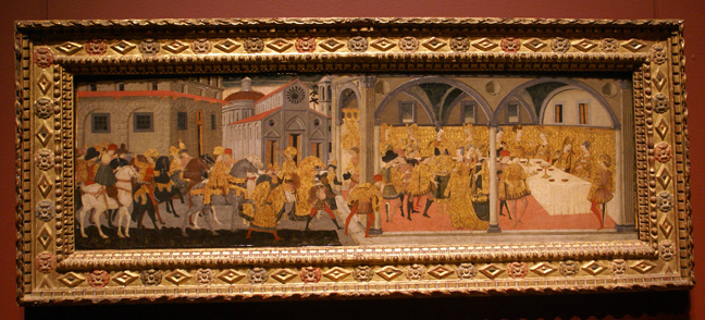Cassone panel from Florence
