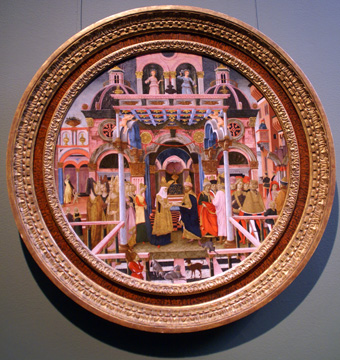 """The Meeting of Solomon and the Queen of Sheba"" birth tray"