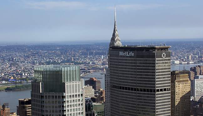 Bear Stearns, MetLife, Chrysler and Chanin towers
