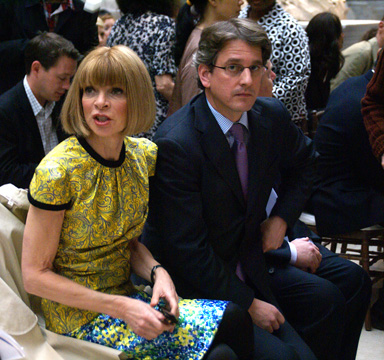 Anna Wintour and Thomas P. Cambell