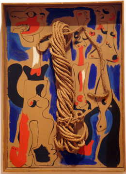 """Rope and People, I"" by Miró"