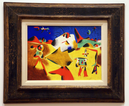 """Personnages, Mountains, Sky, Star and Bird"" by Miró"