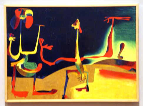 """Man and Woman in Front of a Pile of Excrement"" by Miró"