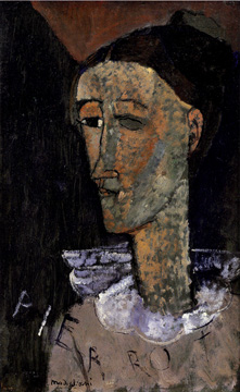 """Pierrot"" by Amedeo Modigliani"