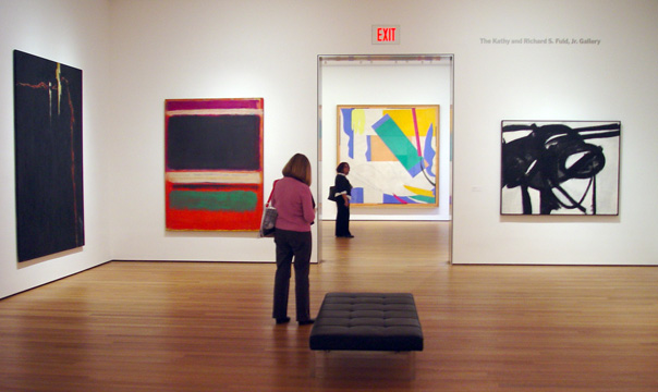 Works by Still, Rothko, Kline and Matisse