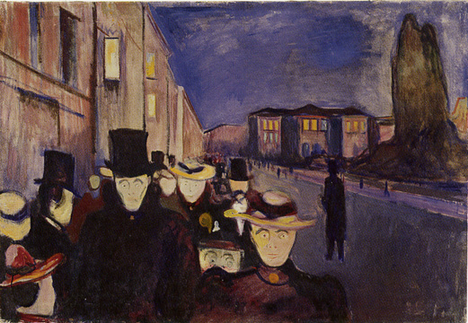 """Evening on Karl Johan Street"" by Munch"
