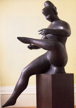 """Seated Woman with Leg Raised"" by Nadelman"