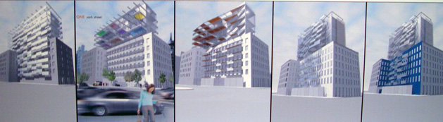 Design studies for 1 York Street