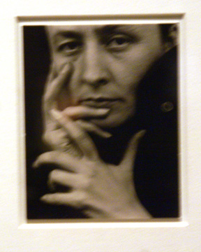 O'Keeffe photographed by Stieglitz