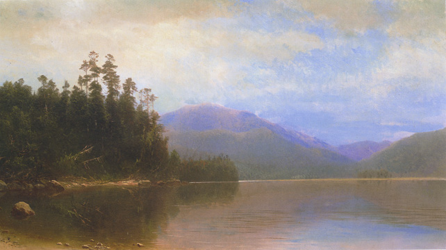"""Saranac Lake, Morning"" by Homer Dodge Martin"