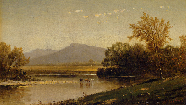 """Spring Landscape with Cows"" by Loveridge"