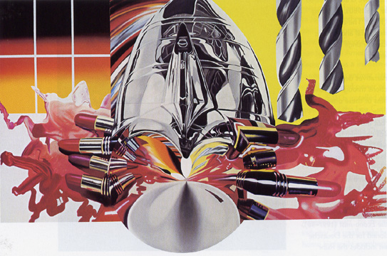 """The Swimmer in the Econo-Mist"" by Rosenquist"