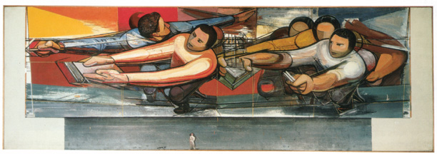 Study for mural by David Alfaro Siqueiros