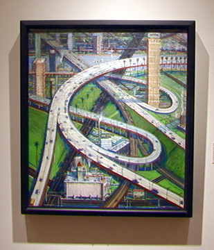 """Interchange"" by Wayne Thiebaud"