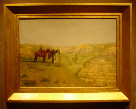 """Cowboys in the Badlands"" by Thomas Eakins"
