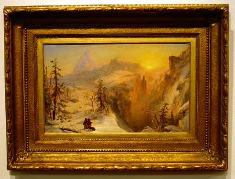 """Winter in Switzerland"" by Cropsey"