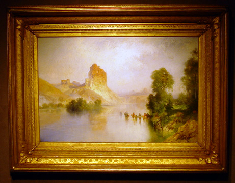 """Castle Rock, Green River, Wyoming,"" by Moran"