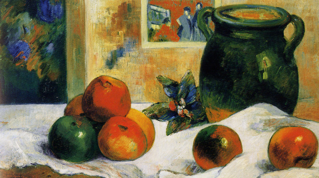 """Nature Morte � l'Estampe Japonais"" by Gauguin"
