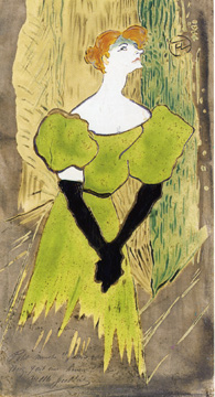 """Yvette Guilbert"" by Toulouse-Lautrec"
