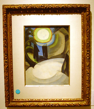 """Silver Moon"" by Oscar Bluemner"