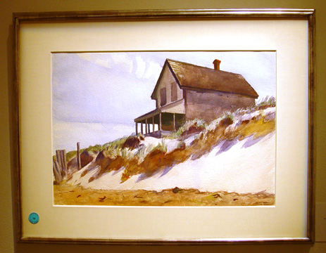"""House on Hill Top (House on Dune, South Truro)"" by Hopper"