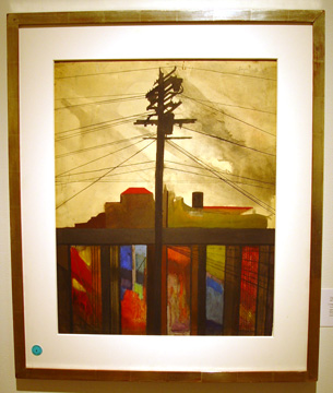 """Telegraph Pole"" by Joseph Stella"