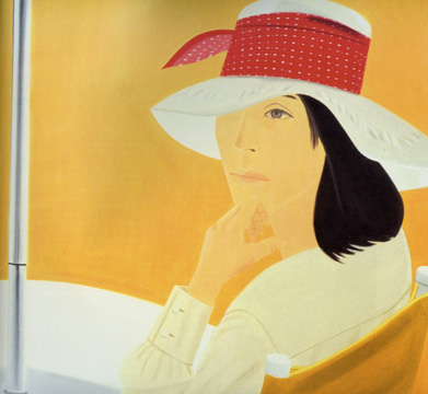 "Large detail of ""The Red Band"" by Alex Katz"
