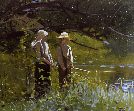 """Fishing"" by Winslow Homer"