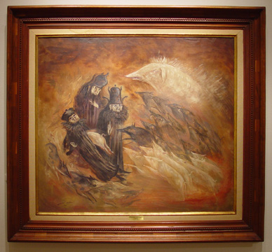 """Pig-rush"" by Leonora Carrington"