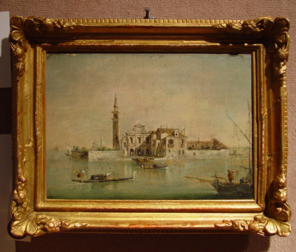 """Capriccio with a Church and Tower"" by Guardi"