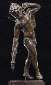 Roman bronze of Cupid