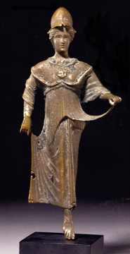 Roman bronze of Minerva