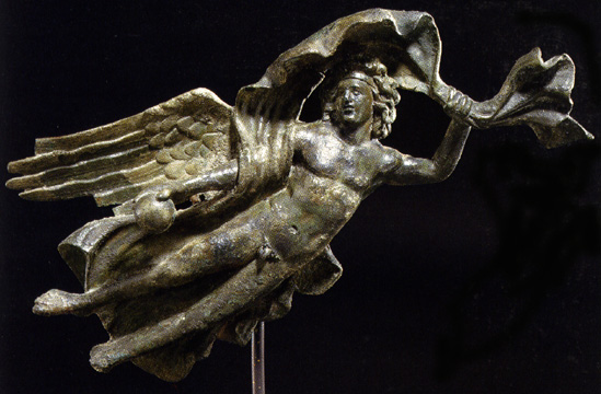 Roman bronze attachment in the form of Aion