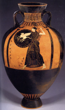 Attic black-figured Panathenaic amphora