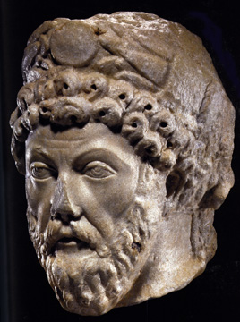 Roman portrait Head of Emperor Marcus Aurelius
