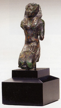 Bronze figure of a pharoah