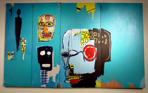 """Blue Heads"" by Jean-Michel Basquiat"