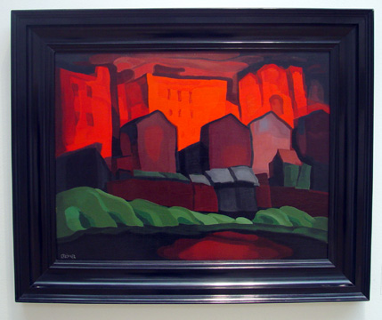 """American Night-Red Glare"" by Oscar Bluemner"