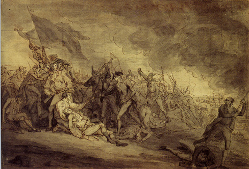 """Eath of General Warren at Bunker's Hill"" by John Trumbull"